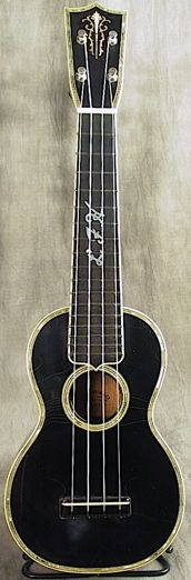 Pre war made Martin Custom Soprano based on the style 5 but with a black finish #LardysWishlists #Soprano #Ukulele ~ https://www.pinterest.com/lardyfatboy/ ~