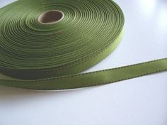 Green Grosgrain Ribbon 5/8 inch wide x 10 yards, Offray Side Saddle Ribbon #Offray