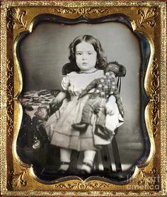 Daguerreotype: Girl, C1852 Photograph  -