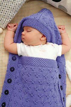 S 252 223 Er Babyschlafsack Selbst Gestrickt Handarbeit