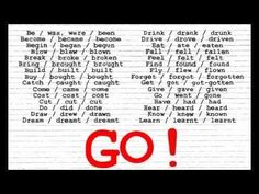 Irregular Verbs Song I (Christen's voice) Verb Song, Verbs List, Broken Broken, Irregular Verbs, Things To Buy, Learn English, Grammar, Christening