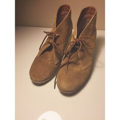 Cognac wedges  Gently worn. Suede like material. Not forever- just exposure purposes Forever 21 Shoes Wedges