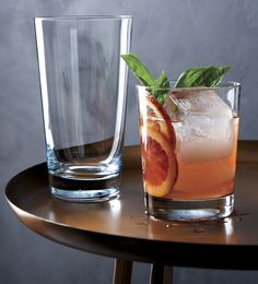 Hefty and handsome, this thick-walled barware has an honest, no-nonsense shape and feel that's ideal for everyday use.