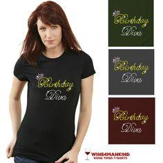 TSR08 Crown Birthday Diva Sparkly Rhinestone Shirt TSR11 Team Bride Sparkly Bling Rhinestone Shirt Wedding $15. 10%OFF: pin10  #birthday #gift #bling #blingshirts #tshirts #rhinestoneshirts http://www.wine4mankind.net