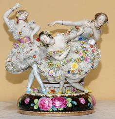 dresden porcelain - I remember my Mom had lots of Dresden figurines. I wish I had them now, but the ones I did get, I sold to an antique dealer when I was young and FOOLISH!