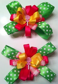 Hair Bows and Clips from Luv Bug Fashions