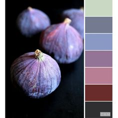 Sage green, light dusky blue, dusky lavender/lilac