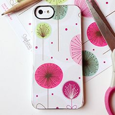 Easy to decorate an phone case with scrapbooking paper! Change out with the seasons and holidays!