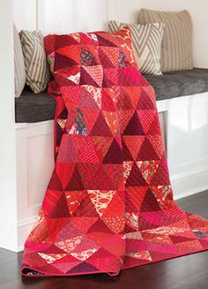 If you like red as much as Mary Fons does, you'll love Big Red. This is a true stash-busting quilt made entirely of pyramids, but if you don't have enough red fabrics in your stash, it's a good excuse to go shopping.