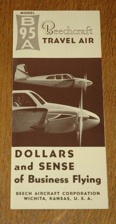 1964 beechcraft travel air aircraft n8537m 2 page vintage vintage rare 1962 beechcraft model b95a travel air brochure from 100 fandeluxe Images