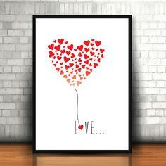 "Affiche ""ballon love"""