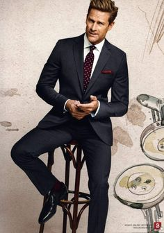 How to wear a suit? : Photo