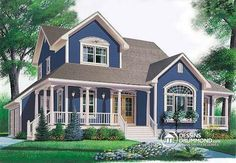Browse cool wrap around porch house plans today! We offer open floor plans, country farmhouses, small one story ranch homes & more with wrap around porch. Style At Home, Country Style House Plans, Cottage House Plans, The Plan, How To Plan, Farmhouse Plans, Country Farmhouse, Farmhouse Design, Drummond House Plans