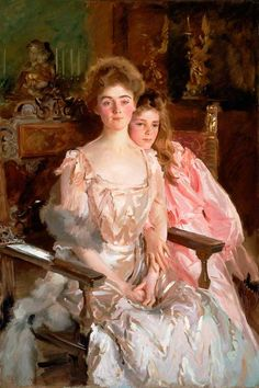 John Singer Sargent, <em>Mrs. Fiske Warren (Gretchen Osgood) and Her Daughter Rachel</em> (1903)