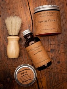 Buffalo Girls Men's Shaving Kit & Beard Taming. You need to look your very best on your big day, and this kit that includes a shaving brush, tonic, shave cream and balm will accomplish just that. Beard Grooming Kits, Male Grooming, Moustache, Bourbon And Boots, Shaving Cream, Men's Shaving, Shaving Tips, Style Hipster, Man Up