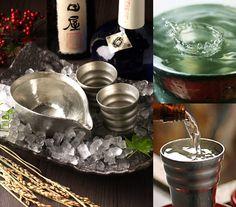 日本古来より使われている最高級の酒器「錫(すず)」で味わうお酒は、柔らかくまろやかで、格別な味わいです。