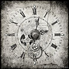 Stock Images: Steampunk clock