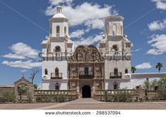 paintings of san xavier mission | San Xavier Mission Del Bac In Tucson Arizona - stock photo