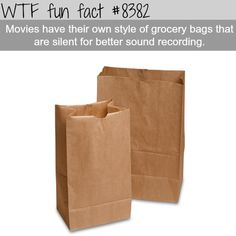Silent grocery bags for movies  WTF fun facts