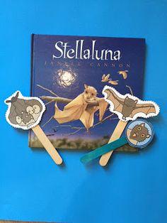 Free Stellaluna Puppet Sticks ~ Preschool Printables More