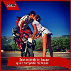 Solo entiende mi locura por las motos, quien comparte mi pasion! #motos #nsrmotos #amor