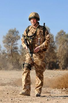 Prince Harry patrols the deserted town of Garmisir close to FOB (forward operating base) Delhi in Helmand Province