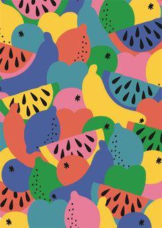 Trendy Ideas For Fruit Pattern Wallpaper Textile Design Design Textile, Design Floral, Art Design, Fabric Design, Graphic Design, Boho Pattern, Pattern Art, Textures Patterns, Print Patterns