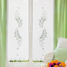 Cutwork Embroidery, Crochet Curtains, Drawn Thread, Cut Work, Cross Stitch, Pure Products, Drawings, Room, Pattern