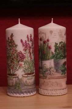 Homemade Candles, Diy Candles, Christmas Candles, Christmas Crafts, Candle Art, Candle Accessories, Beautiful Candles, Candle Making, Decoupage Vintage