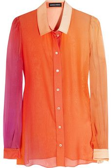 Sonia Rykiel Dégradé silk-georgette blouse