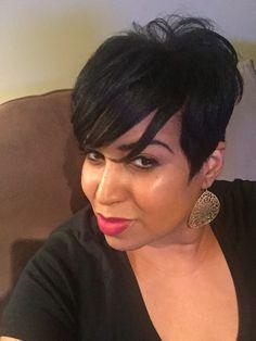 Short Black Haircuts, Black Women Short Hairstyles, Short Haircut Styles, Short Hairstyles For Women, Short Styles, Weave Styles, Pixie Styles, Medium Black Hair, Medium Short Hair