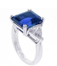 Pampillonia - 10 Carat No Heat Burma Sapphire offered by Pampillonia on InCollect Jewelry Rings, Fine Jewelry, Jewellery, Three Stone Rings, Sapphire Jewelry, Gems And Minerals, Blue Sapphire, Diamond Engagement Rings, Diamond Cuts
