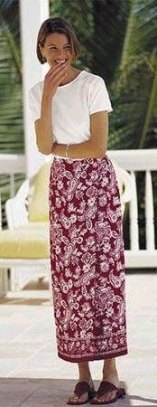 Modest wrap skirt, Talbots I think c. 1995