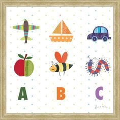 ABC II Framed Painting Print