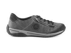 Rieker - Dámské tenisky se šněrováním L5224-00 / šedá Bugatti, Sneakers, Shoes, Fashion, Tennis, Moda, Slippers, Zapatos, Shoes Outlet