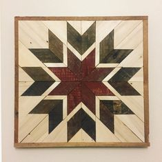 This 20 x 20 rustic quilt square wall hanging is completely handmade by TheLittleWoodshoppe. Since the wood that we use is reclaimed from fences and barns, every piece has a story. Your wall hanging will be unique and add character and charm to your home. The quilt square has