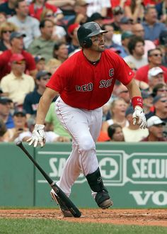 Jason Varitek Photo - Oakland Athletics v Boston Red Sox - Game One This one is for you Liz