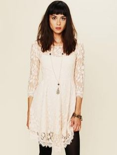 Free People Floral Mesh Lace Dress - Antique 0 $128.0 by Free People by limingsui
