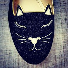 If you've ever had an urge to wear a cat face on your feet, Charlotte Olympia is the brand for you.
