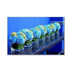 Blue and Green Wedding Centerpieces hydrangeas (I always love hydrangeas )