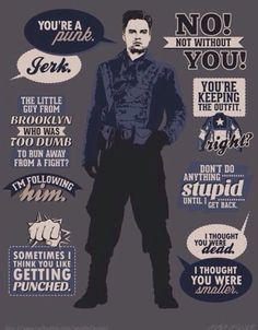 YUS! All my favorite First Avenger Bucky quotes!! xDD