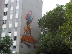 #CityLeaks Festival 2013 in Köln, Niehler Kirchweg 71 - 73 #Wandgemälde #Mural Künstler: Rookie aus Dresden