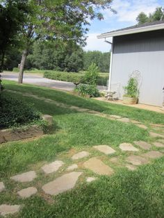 This path was made using broken cement chunks.