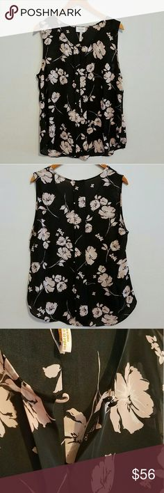 "??Laundry by Shelli Segal Pink + Black Floral Top Pale pink and black floral top from Laundry by Shelli Segal! Brand new condition. Features button closure at neckline as seen in photo.   Size XL.  Measures approximately:  27"" L from middle of strap to bottom 22"" L from middle of neckline to bottom  22"" across from underarm to underarm Laundry by Shelli Segal Tops"