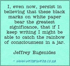 Quotable - Jeffrey Eugenides - Writers Write Creative Blog