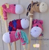 Stick Horse Pattern By Just Be Happy | Crocheting Pattern