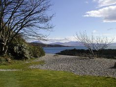 view from cul-na-shee front door - Isle of Arran on the horizon 140405 by…
