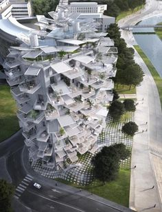 Housing Tower for Montpellier, French architecture competition (cool? or hot mess?)