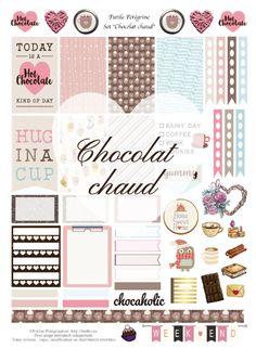 Stickers à imprimer pour Happy Planner ✯ Chocolat chaud