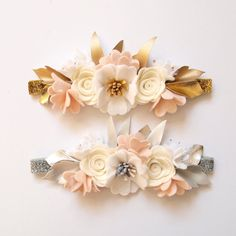 Neutral flower crown neutral colours/ whimsical/ by kireihandmade